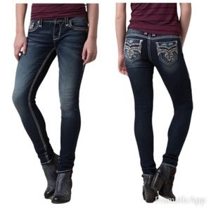 Rock Revival Sapphire Easy Skinny Jeans Size 26